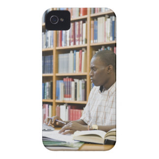 College student working in library iPhone 4 cover