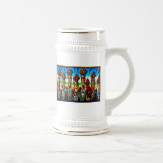 College Tech or High School Graduate Print Beer Steins
