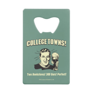 College Towns: 2 Bookstores 300 Bars