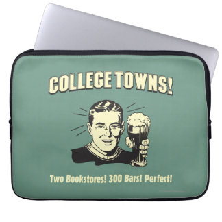 College Towns: 2 Bookstores 300 Bars Laptop Sleeve