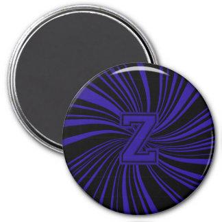 Collegiate Letter Magnet Blue-Black-Z