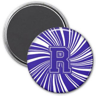 Collegiate Letter Magnet Blue-White-R