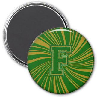 Collegiate Letter Magnet Green-Gold-F