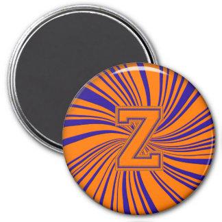 Collegiate Letter Magnet Orange-Blue-Z