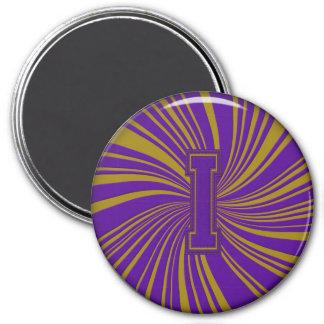 Collegiate Letter Magnet Purple-Gold-I