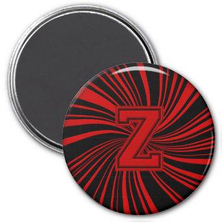 Collegiate Letter Magnet Red-Black-Z
