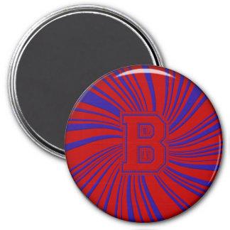 Collegiate Letter Magnet Red-Blue-B
