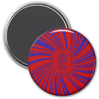 Collegiate Letter Magnet Red-Blue-Q