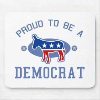 Collegiate Proud Democrat Mouse Pad