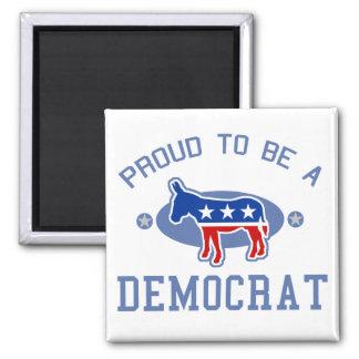 Collegiate Proud Democrat Square Magnet