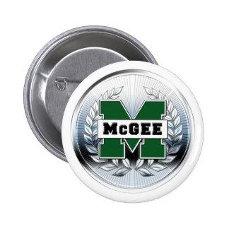 """Collegiate Style Metallic """"M"""" Logo 6 Cm Round Badge"""