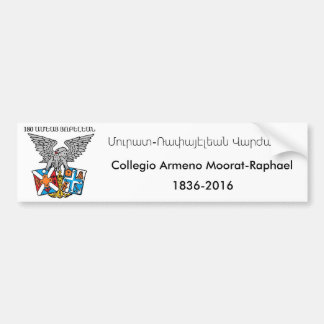 Collegio Armeno Moorat-Raphael Car Bumper Sticker