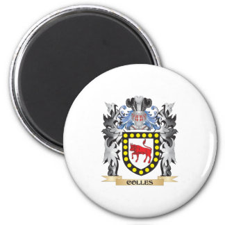 Colles Coat of Arms - Family Crest 6 Cm Round Magnet