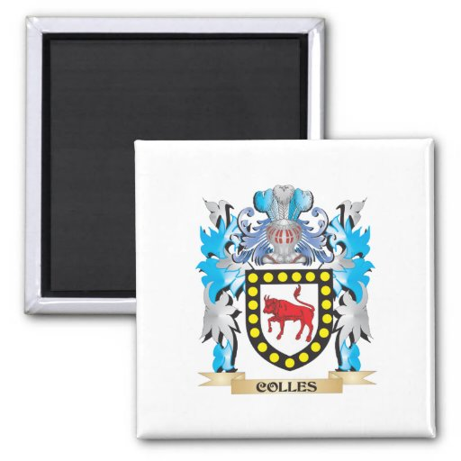 Colles Coat of Arms - Family Crest Fridge Magnets