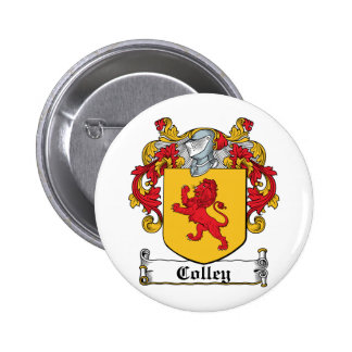 Colley Family Crest 6 Cm Round Badge