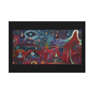 Colliding Worlds - Death and Rebirth Canvas Print