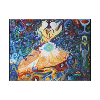 Colliding Worlds - The Gift. Canvas Print