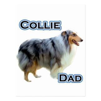 Collie Dad 4 Postcard