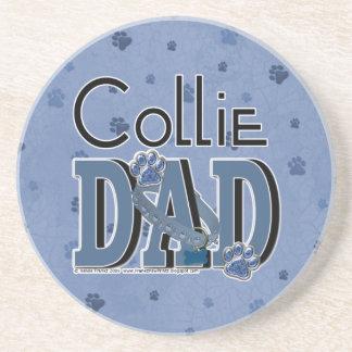 Collie DAD Beverage Coaster