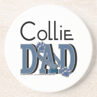 Collie DAD Drink Coaster