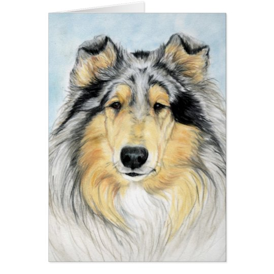 """Collie"" Dog Art Reproduction Notecard"