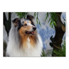 Collie dog blue merle blank greeting card