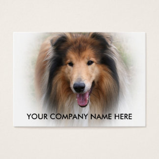 Collie dog business card add your details