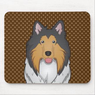 Collie Dog Cartoon Paws Mouse Mat