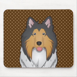 Collie Dog Cartoon Paws Mouse Pad
