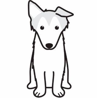 Collie Dog Cartoon Standing Photo Sculpture