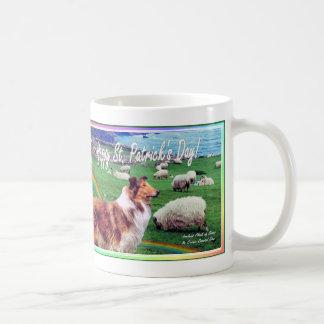 Collie & Flock of Sheep Beautiful Ireland Coast Basic White Mug