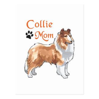 COLLIE MOM POSTCARD