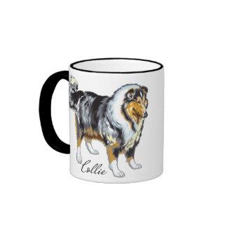collie ringer mug