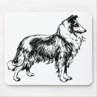 collie rough dog beautiful illustration mousepad