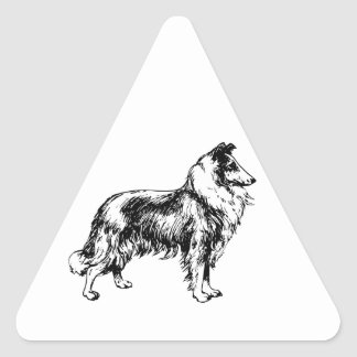 Collie rough dog beautiful illustration stickers