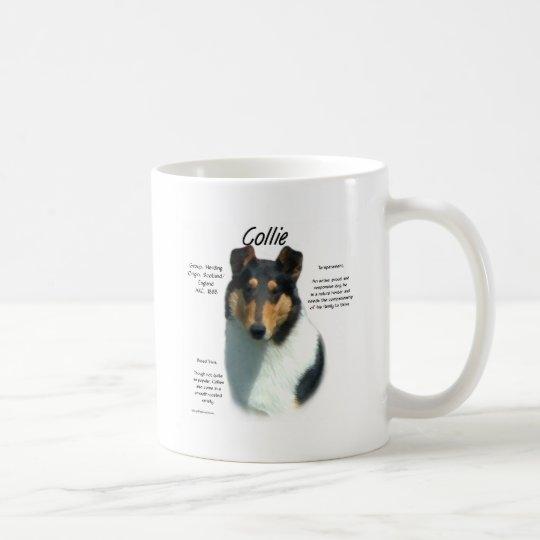 Collie (tri smooth) History Design Coffee Mug