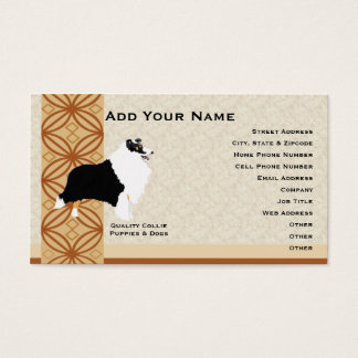 Collie w/Rust and Brown Design Business Card