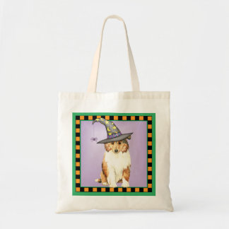 Collie Witch Tote Bag