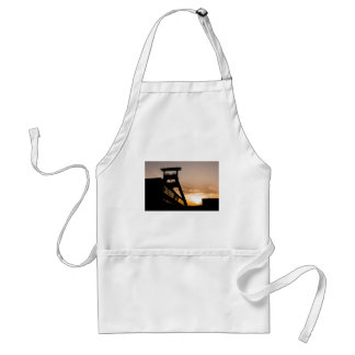 Colliery in the sunset apron