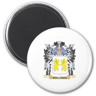 Collings Coat of Arms - Family Crest 6 Cm Round Magnet