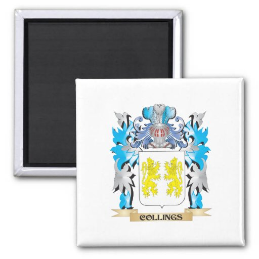 Collings Coat of Arms - Family Crest Fridge Magnets