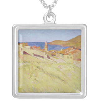 Collioure Landscape Silver Plated Necklace