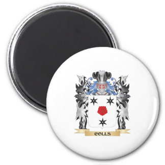 Colls Coat of Arms - Family Crest 6 Cm Round Magnet