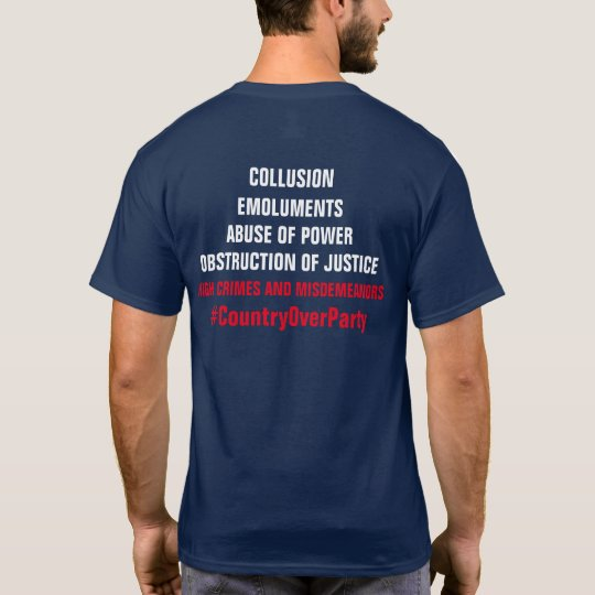 Collusion Emoluments Obstruction Impeachment T-Shirt