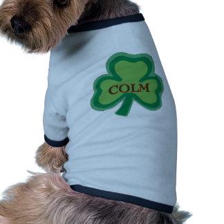 Colm Irish Name Dog T Shirt
