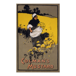 Colman's mustard, 1900 print