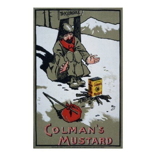 Colman's warming mustard, 1900 posters