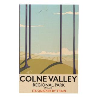 Colne Valley Regional Park England rail poster