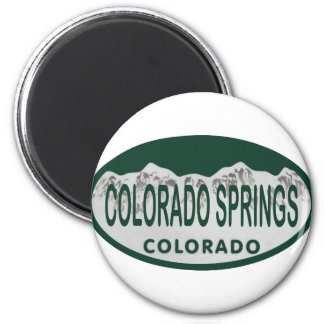 Colo Spgs license oval 6 Cm Round Magnet