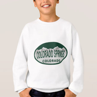 Colo Spgs license oval Sweatshirt